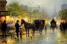 Cabbies At The Market
