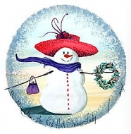 The Red Hat Snow Lady
