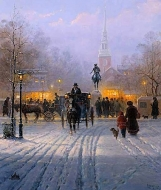 Winter Evening In Old Boston